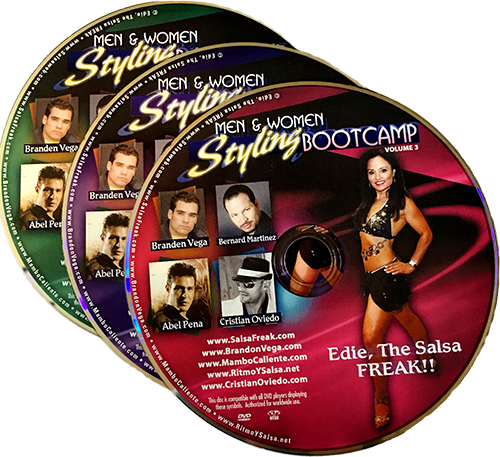 3 DVD Set Men and Women's Salsa Styling Bootcamp
